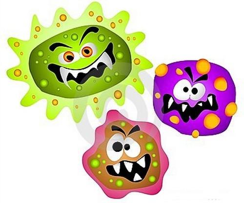 bacteria cartoons